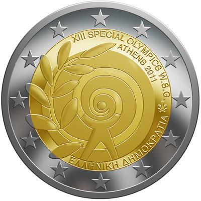 Нумизматический набор Греции 2011 «Специальные Олимпийские игры» (в том числе памятная монета).jpg