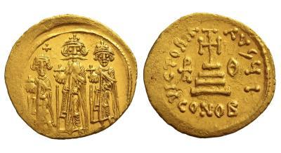 Византийская империя, Ираклий, 610-641 годы, солид.jpg