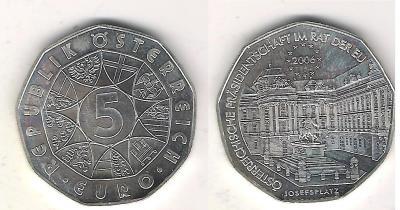 Австрия 5 евро 2006 Председательство в ЕС.jpg