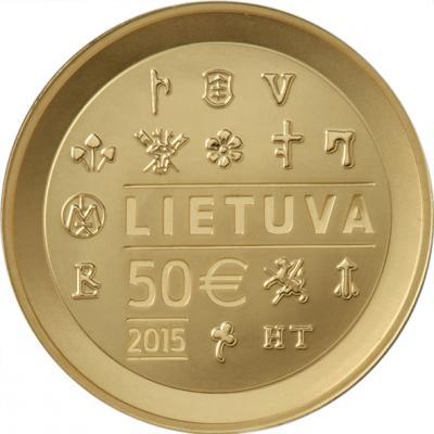 50 евро золото, посвященная чеканки монет в Великом княжестве Литовском_rev.jpg