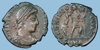 Valentinian I, Western Augustus 364 - 375 AD, Nicomedia, 2.5 gms, 17 mm.jpg