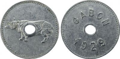 Gabon 1929 Rhino.jpg
