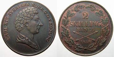 Schweden Karl XIV Johann 2 Skilling Banco 1836.jpg
