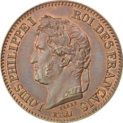 Louis Philippe, Essai de la 2 Centimes à la couronne, 1842-a.jpg