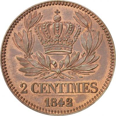 Louis Philippe, Essai de la 2 Centimes à la couronne, 1842-r.jpg