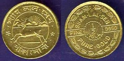 India Sham Lal Sen half Tola Gold.jpg
