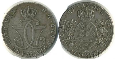 1776 Норвегия, Кристиан 7, спесдалер (Кронберг).jpg