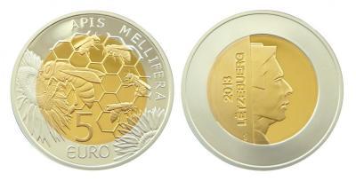 Люксембург_5 евро_2013_Пчелы_Форум.jpg