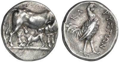 Изображение галльского петуха  на античной монете.jpg