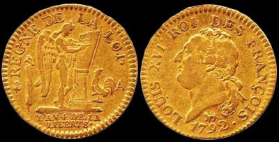 """Франция Революционный луидор """"золотой ангел"""". 1792 год..jpg"""