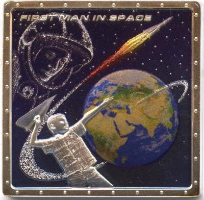 1 доллар. Острова Кука. Первый человек в космосе. Коробка, сертификат 2011..jpg