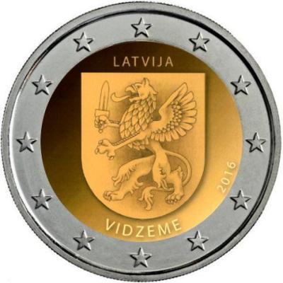 Латвия 2 € 2016 - Видземе.jpg