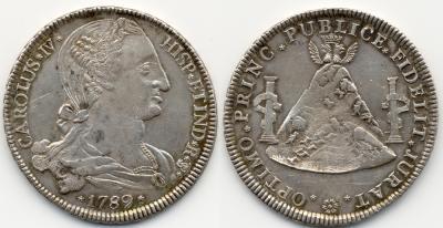 Bolivien Proclamación Peso (8 Reales). 1789.POTOSI. He-187. EBC.jpg