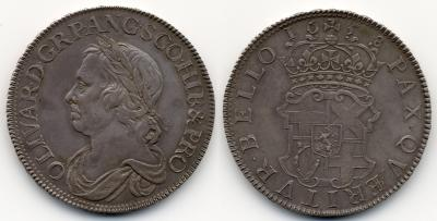 GROSSBRITANNIEN  IRLAND Oliver Cromwell, 1653-1658. Crown 1658 London Dav. 3773 RR.jpg