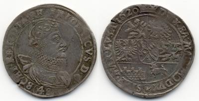 Böhmen Friedrich von der Pfalz 1619-1620.Friedrich von der Pfalz 1619-1620. Kipper-48 Kreuzer 1620, Kuttenberg. Diet. 593. Herinek 19.jpg