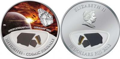 6 апреля 2002 года в Баварии на землю упал метеорит Нойшванштайн(10 долларов, 2012).jpg