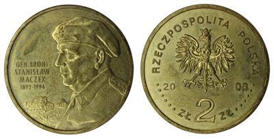 31 марта 1892 года родился - Станислав Мачек(Польша, 2 злотых, 2003 года).jpg