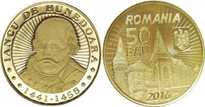 Янош Хуньяди(Румыния, 50 бани 2016).jpg