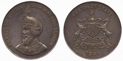 Faridkot, Harinder Singh (1918-1949), AR 5 rupees, 1941.jpg
