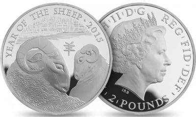 Серебряные монеты Великобритании «Год Овцы» 2015 года номиналом 2 фунта стерлинга.JPEG