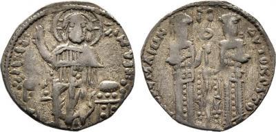 Byzanz Andronikos II. Palaiologos, 1282-1328, mit Michael IX Sommer 80.3 Sear 2402.jpg