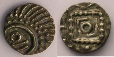 Merovingische Münzen 710-765 n. Chr Abramson p.90-91 var. - Poids 1,15 g .jpg