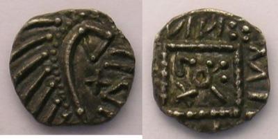 Merovingische Münzen 700-765 n. Chr Abramson E190 var. p.87 - Poids 1,06 g .jpg