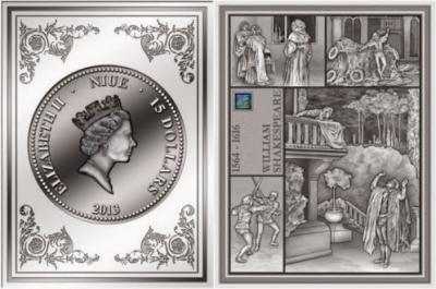 26 апреля 1564 года родился - Уильям Шекспир(Ниуэ 25 долларов 2013).jpg
