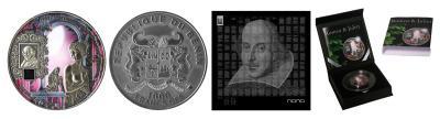 26 апреля 1564 года родился - Уильям Шекспир(Бенин 1000 франков КФА 2014).jpg