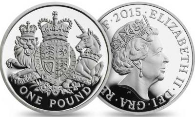 Великобритания 2015, £ 1 Silver Армия пьедфорт.jpg