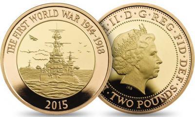 Великобритании 2015 £ 2 Золото Королевский флот.jpg