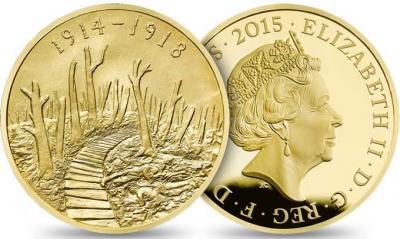 Великобритания 2015, £ 10 (10 фунтов стерлингов) золото, Первая мировая.jpg