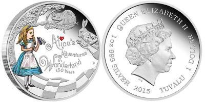 Тувалу 2015 1 доллар Приключения Алисы в Стране чудес.jpg