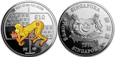 Сингапур 2 унции Серебро год Обезьяны.jpg