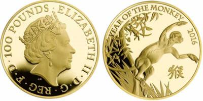 Великобритания 2016 золотые монеты, год обезьяны.jpg