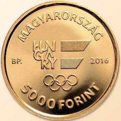 Венгрия. Олимпийские игры в Рио 2016 год, 5000 форинтов(аверс).jpg