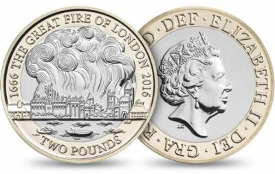 Великобритании 2016 £ 2 биметалл Великий лондонский пожар.jpg
