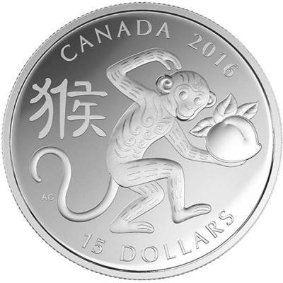 Канада $ 15 2016  Год обезьяны, Лунный Лотос.jpg