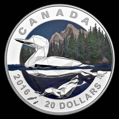 Канада $ 20 2016 Геометрия в искусстве - гагара.jpg