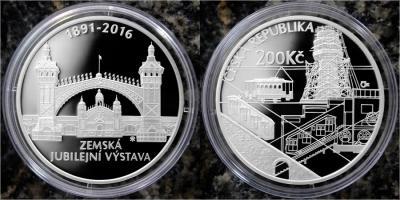 Чехия 200 крон - 125 лет национальной юбилейной выставке в Праге (пруф).jpg