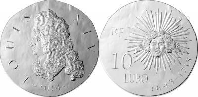 14 мая 1643 года - Людовик XIV становится королём Франции и Наварры (France-2014-10-50-200-euro-Louis-XIV).jpg