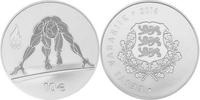 Памятная монета Эстонии 10€ Рио-де-Жанейро.jpg