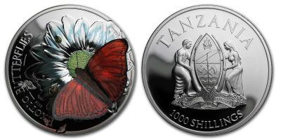 Танзания 2016 Серебро 3D Экзотические бабочки.jpg