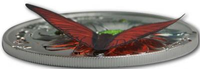 Танзания 2016 Серебро 3D Экзотические бабочки..jpg