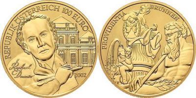 24 мая 1693 года родился - Георг Рафаэль Доннер (Австрия, 100 евро 2002).jpg