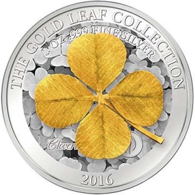 Самоа - 2016 - 5 долларов - золотые листья клевер.jpg