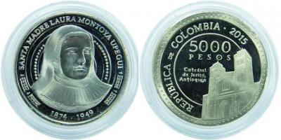 26 мая 1874 года родилась - Лаура Святой Екатерины Сиенской (Колумбия 2015 год, 5000 песо).jpg