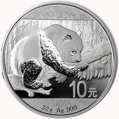 Китай. Серебряная инвестиционная монета Китая - Панда 2016 г.в., 30 г чистого серебра  (проба 999) реверс.jpg