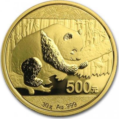 Китай. Золотая инвестиционная монета Китая - Панда 2016 г.в., 30 г чистого золота (проба 999) реверс.jpg