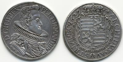 Ferdinand III., 1625-1637-1657 Reichstaler 1629 HG, Glatz. Dav. 336, RR.jpg